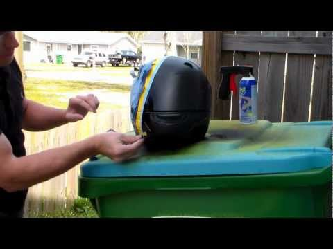 Plasti Dip a motor cycle helmet: Part 3