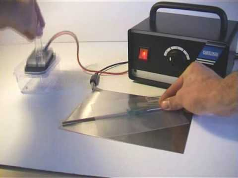 Electrolytic Metal Etching setup and marking demonstration