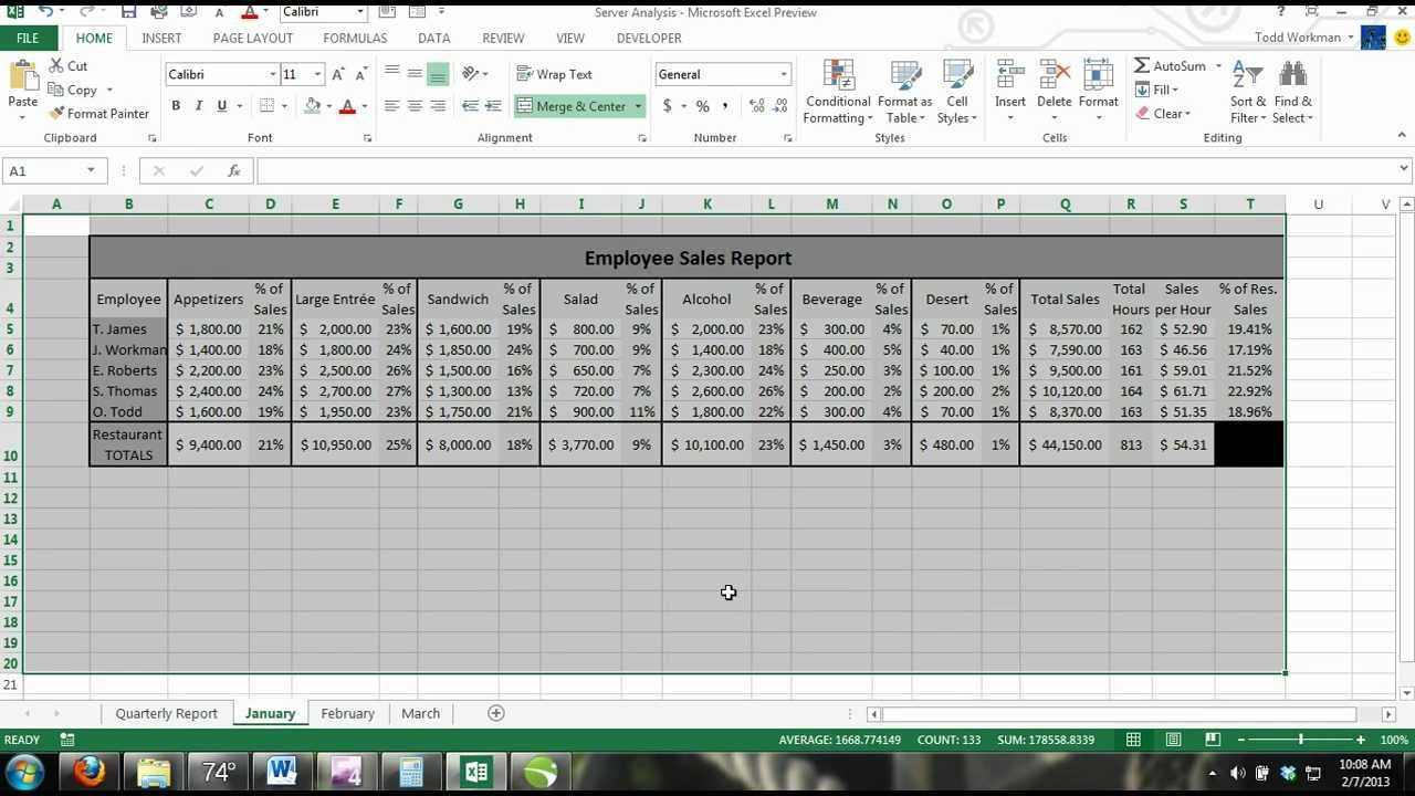 Excel 2013 Tutorial For Noobs