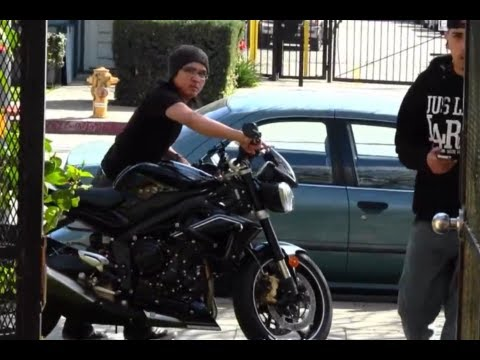 Brand New 2013 Triumph Street Triple R 675cc Getting Ready To Ride Motorcycle VLOG