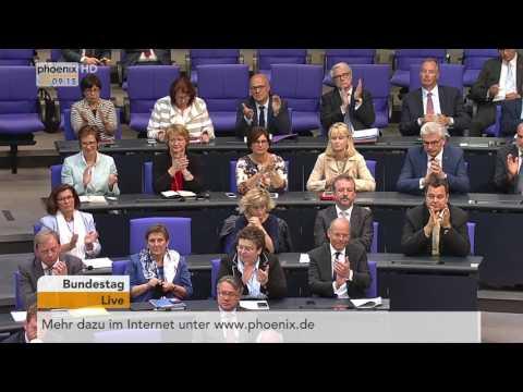 Bundestagsdebatte zur Neuregelung des bundesstaatlichen Finanzausgleichs am 01.06.17