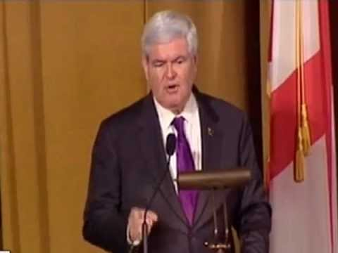 Newt Gingrich gives FANTASTIC speech at Birmingham Alabama 2012 FANTASTIC