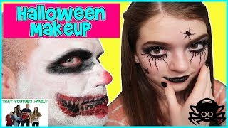 Trying HALLOWEEN MAKEUP KITS! Are They Worth It? / That YouTub3 Family
