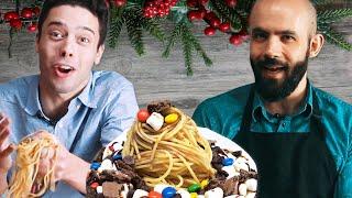 We Try Buddy The Elf's Breakfast Pasta ft. Binging With Babish