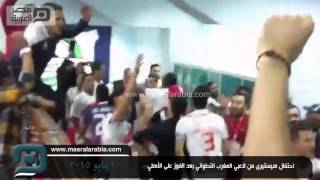 مصر العربية | احتفال هيستيرى من لاعبي المغرب التطواني بعد الفوز على الأهلي