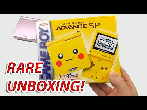 EXTREMELY RARE Unboxing: Pikachu Gameboy Advance SP