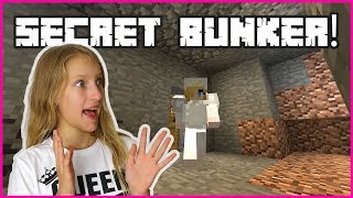 Building a SECRET Bunker to HIDE AWAY from ZOMBIES!