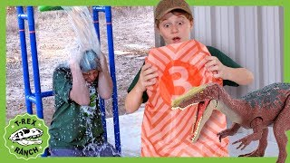 Dinosaur Dunk Tank Showdown! Dinosaurs for Kids with Jurassic World Toys at T-Rex Ranch