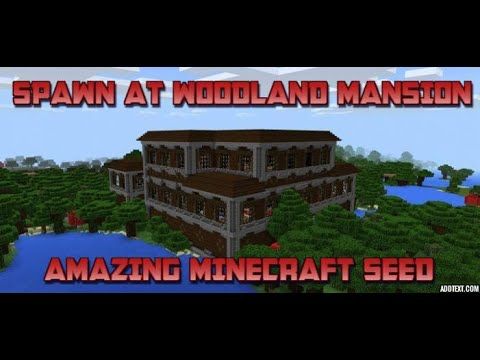 Spawn at Woodland Mansion SEED Minecraft Xbox/PS4