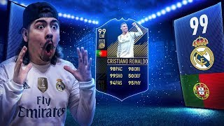 I PACKED TOTY RONALDO!! 99 TOTY IN A PACK! FIFA 18
