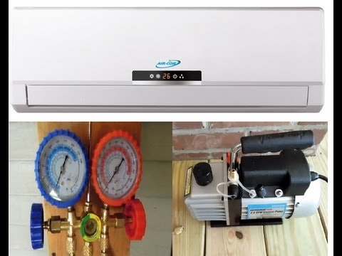 Installation Ductless Mini Split 410a Air Conditioner