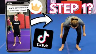 Trying Gymnastics Tutorials from Tik Tok!