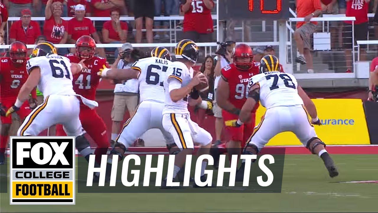 Utah defeats Michigan in Jim Harbaugh's debut - 2015 College Football Highlights