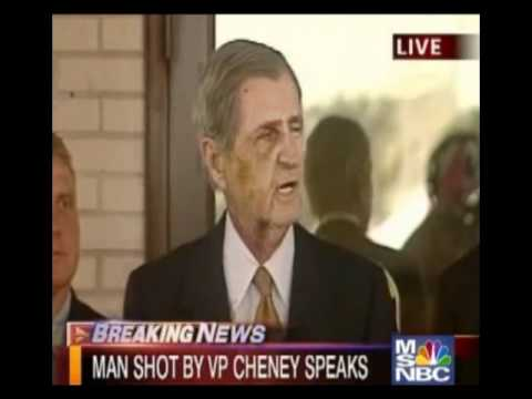 Harry Whittington Apologizes for Getting Shot in the Face by Dick Cheney