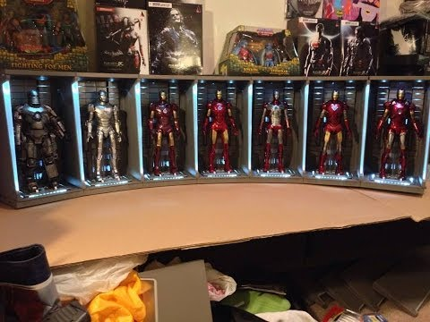 Iron Man 3 Hot Toys Hall Of Armor 7 Pack 1/6 Scale Collectible Movie Diorama Review