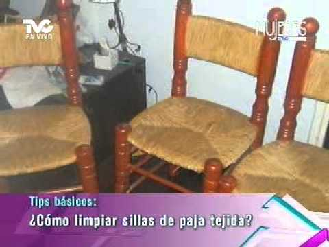 C mo limpiar sillas de paja tejida metvc youtube - Como limpiar tapiceria sillas ...