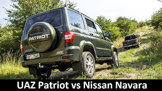 UAZ Patriot AMC and Nissan Navara - Complete review (English with CZ sub.)