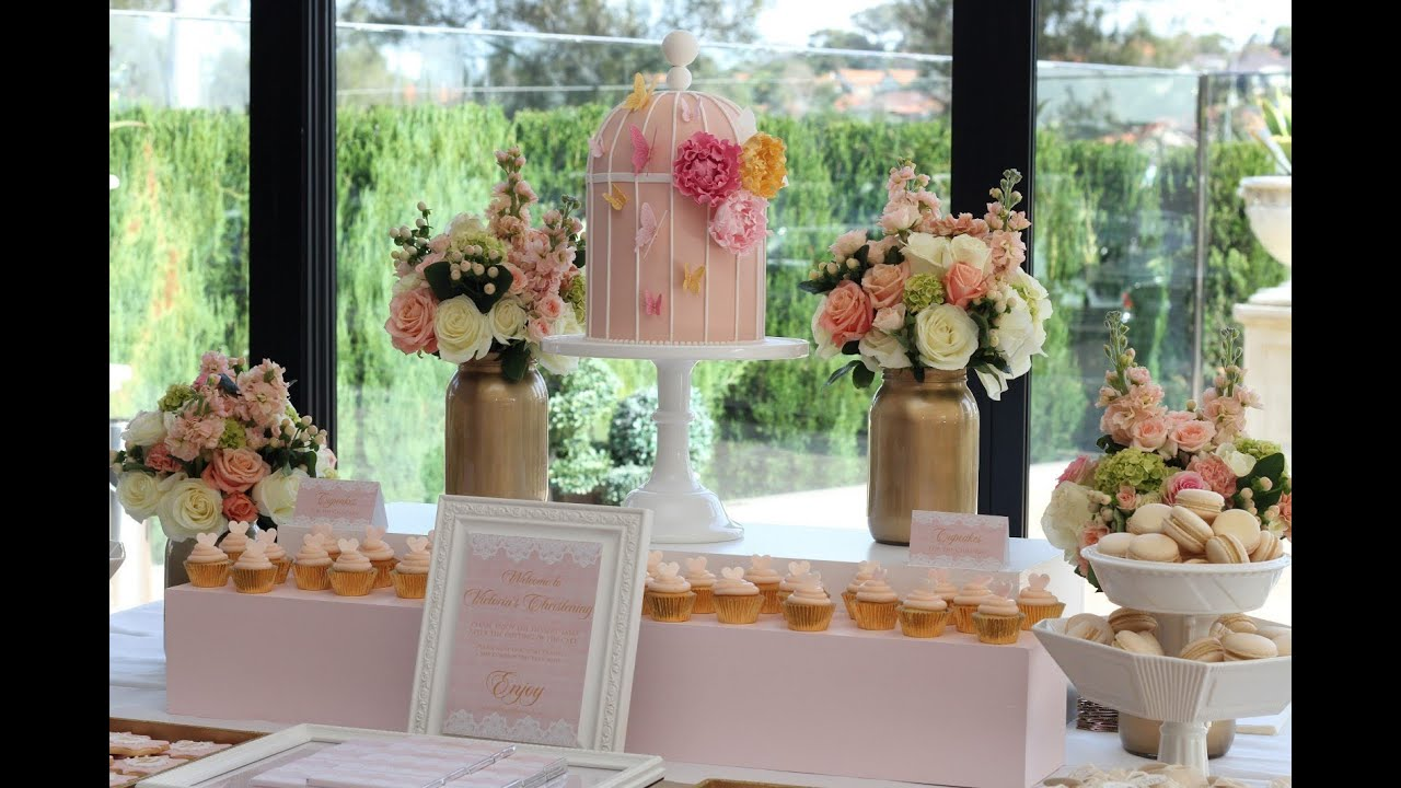 Wedding Buffet Ideas Using Flowers For Table