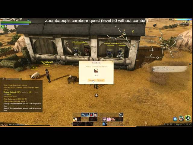 Archeage carebear quest (level 50 without killing) Day 2 Part 1