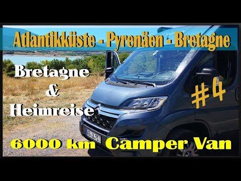 Campervan  Tour 4/4  Bretagne-  Heimfahrt - Blödsinn labern - Citroen Jumper Camper  Van Tour