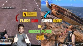 I Found Super Boat And Flare Gun In Hidden Place Erangel Map Pubg Mobile Can I win This Time