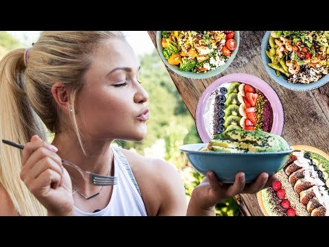 FITNESS FOOD super BOWLS zum abnehmen! ♥ Einfache Acai, Smoothie, Buddha und Poke Bowl Rezepte