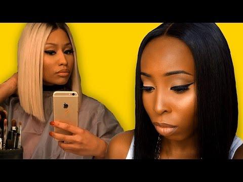 Nicki Minaj Transformation makeup tutorial and Hair Tutorial | MyFirstWig.com