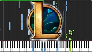 League of Legends Medley [Piano Duet] (Synthesia) // Anifuse
