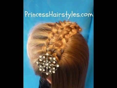 Folded Braid Headband Hairstyle Tutorial