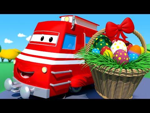 Wielkanoc: Pociąg Wielkanocny - Lokomotywa Troy W Mieście Samochodów