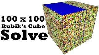 A.I. Solves a 100 x 100 Rubik