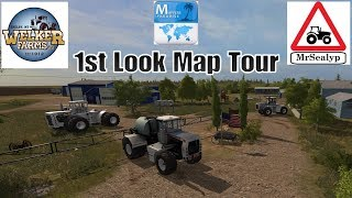 Welker Farms Inc, 1st Look Map Tour. Farming Simulator 17 PS4, New Mod Map.