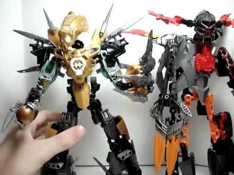 Lego hero factory witch doctor vs rocka xl