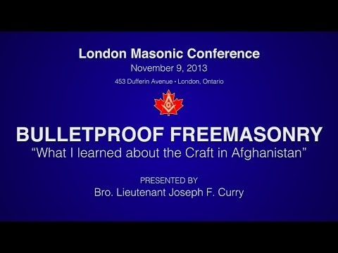 """Bulletproof Freemasonry: """"What I learned about the Craft in Afghanistan"""""""