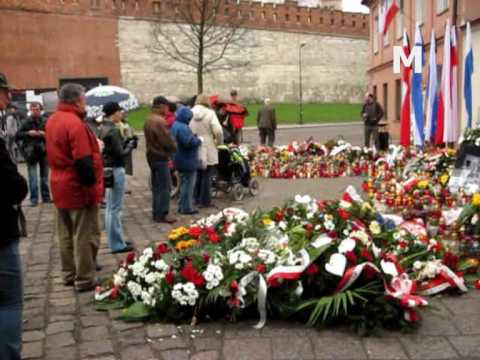 Krakow before the funeral of Lech and Maria Kaczynski
