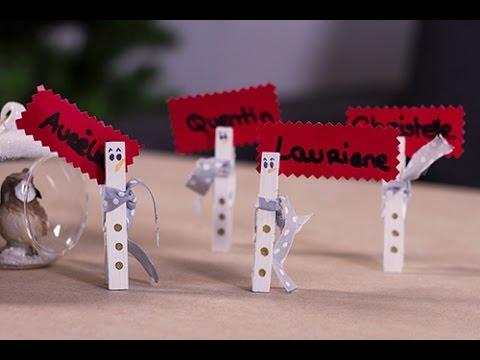 Diy no l marque place bonhomme de neige youtube - Fabriquer des portes noms ...