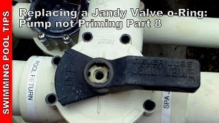 Replacing the Jandy Valve O-rings; Pool Pump Not Priming Part 8