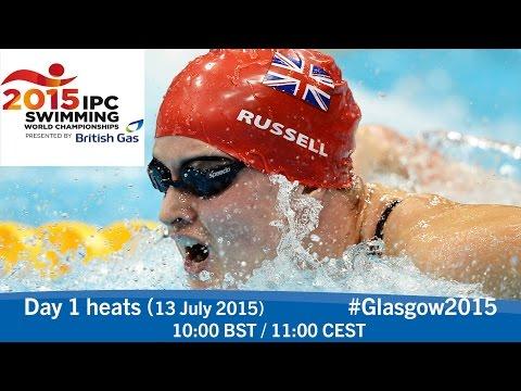 Day 1 heats | 2015 IPC Swimming World Championships, Glasgow