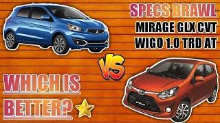 (2019) Mitsubishi Mirage GLX CVT vS Toyota Wigo 1.0 TRD AT - Best Hatchback? (Specs Brawl)