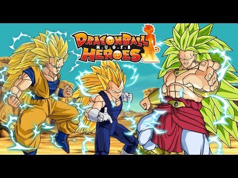 Goku & Vegeta vs SSJ3 Broly - DragonBall Heroes v2 (Chars by LegendTTA)