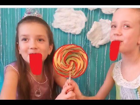 Желейный Язык от Гигантских Конфет ПРИНЦЕССА СОФИЯ Giant Candy Chupa Chups Lollipops