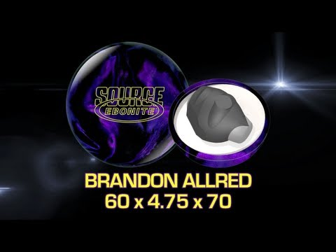 Ebonite Source Bowling Ball Thrown By Brandon Allred Of K&amp K Bowling Services  Hd