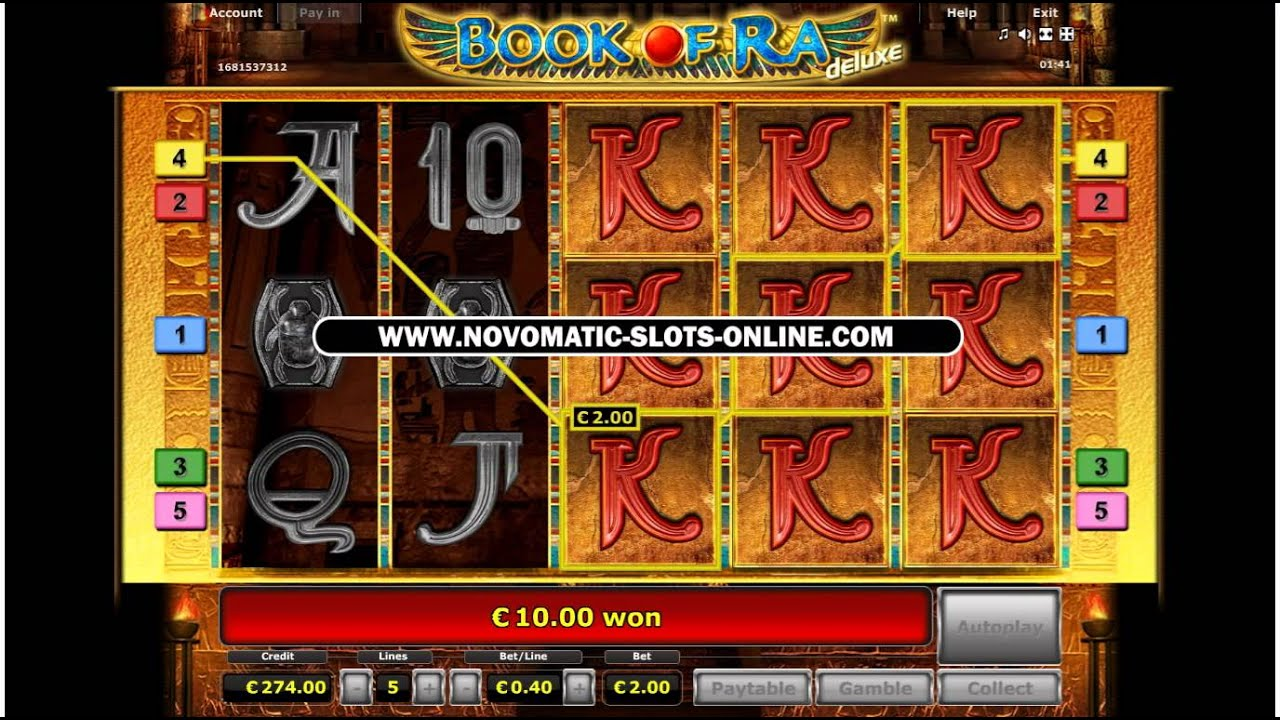 book of ra slot tv
