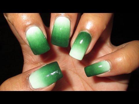 #FightForLightAndLive Depression Awareness Green Gradient Nail Art Tutorial