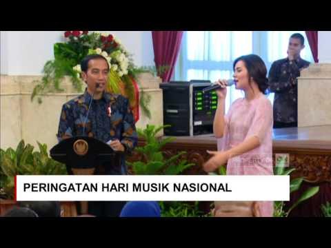 Raisa Minta Sepeda ke Jokowi ; Saat Presiden Jokowi Cari Raisa di Peringatan Hari Musik Nasional