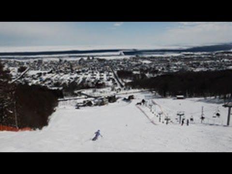 北海道・紋別市営大山スキー場から流氷展望(2014/02/27)北海道新聞