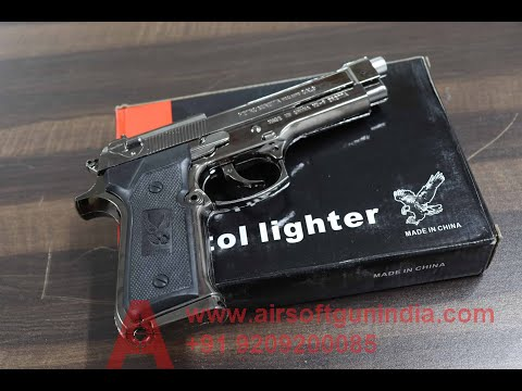 Beretta 9 mm pistol replica(metal lighter )  by air soft gun India