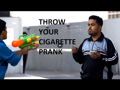Fab Daily: Throw your cigarette prank (gone wrong)| Pranks in Dubai !