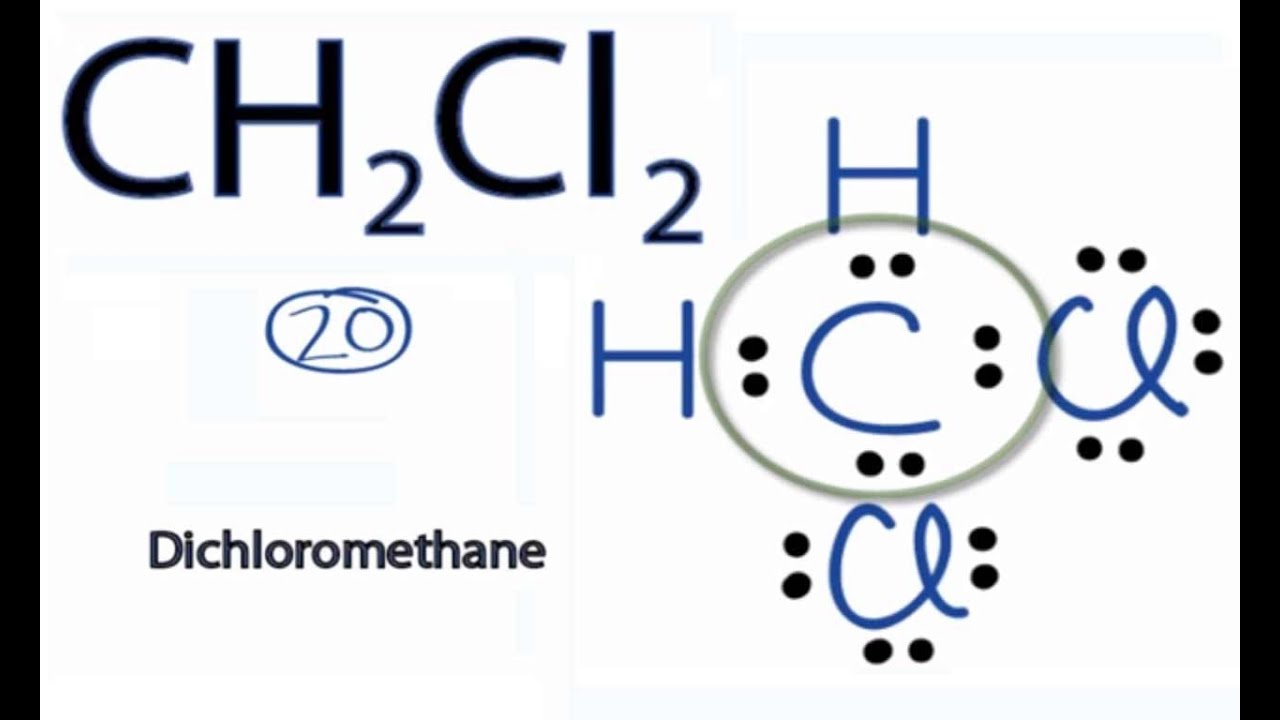 Ch2cl2 Lewis Structure  How To Draw The Lewis Structure For Ch2cl2  Dichloromethane