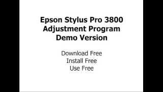 Epson Pro 3800 adjustment wizard free download